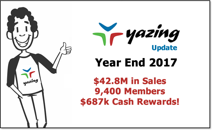 Yazing Continues Rapid Growth in 2017
