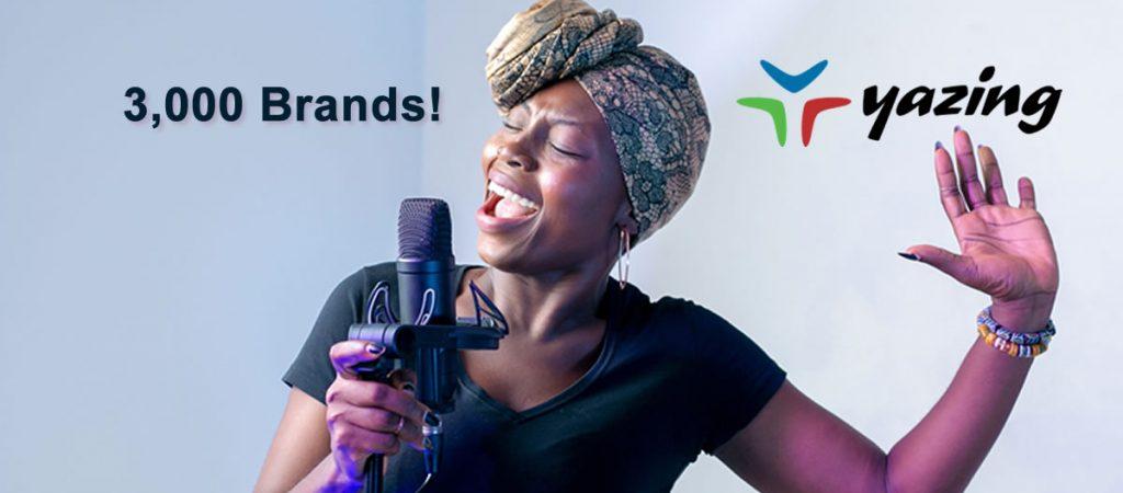 Yazing adds 3,000th brand!