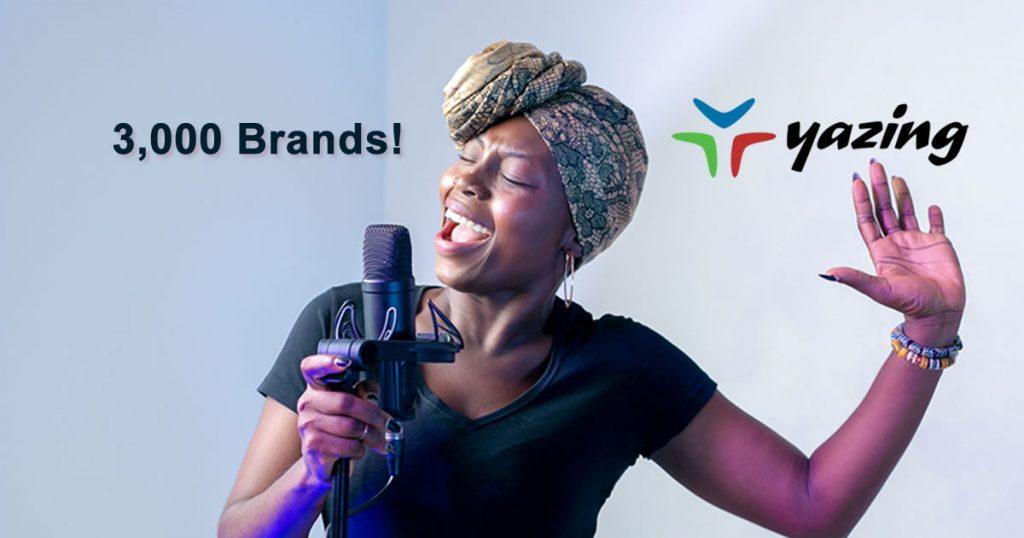 Yazing has 3,000 Brands!