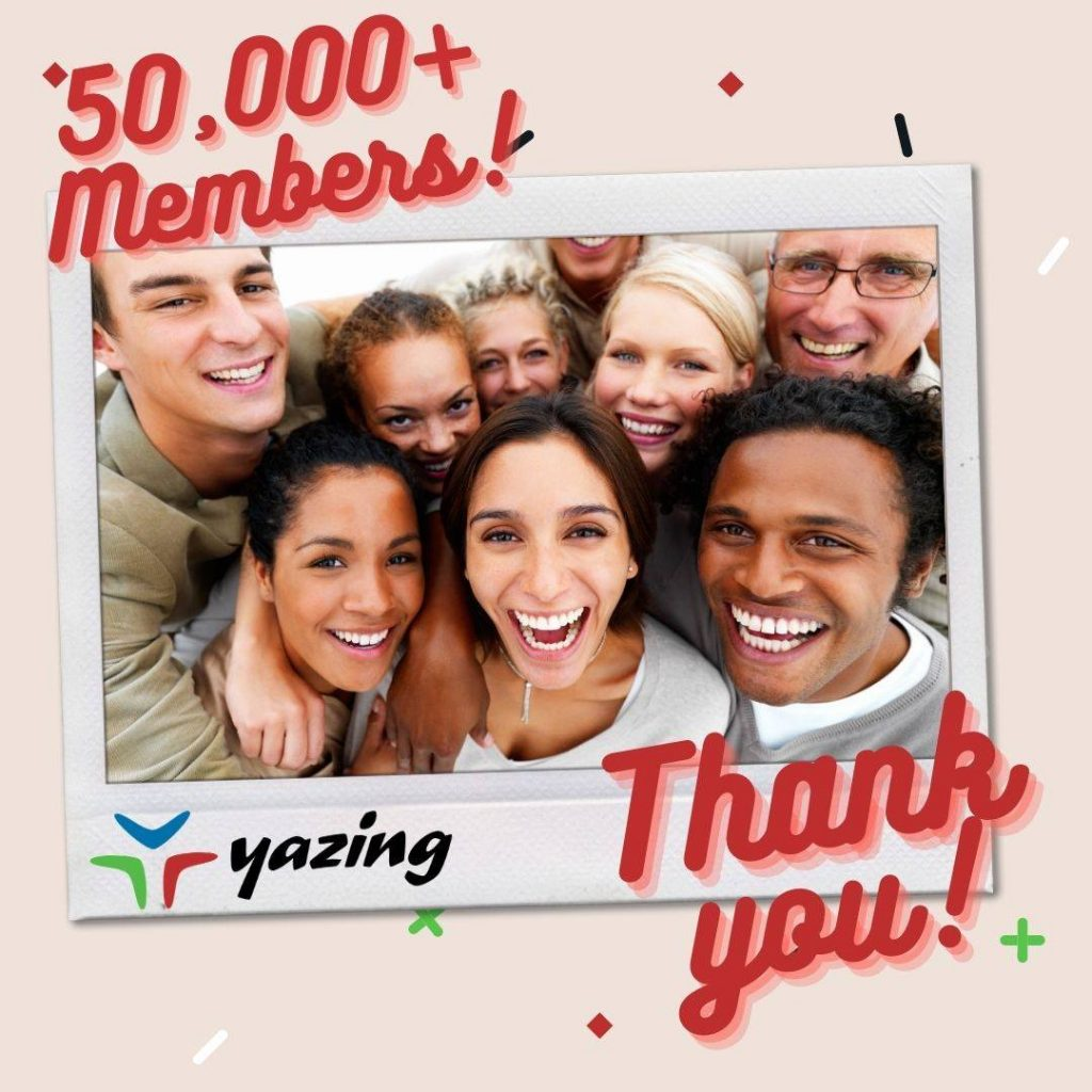Yazing Hits 50k Members